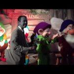 白黒写真メイクのウォルト仮装で、カラフルな7人の小人に会いに言った(フロリダ) #ディズニー #Disney #followme