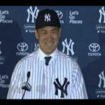 田中将大 ヤンキース入団会見 最初は英語でスピーチ 背番号19番のユニフォームで。 #人気商品 #Trend followme